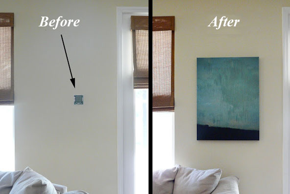 hinged wall art - before + after
